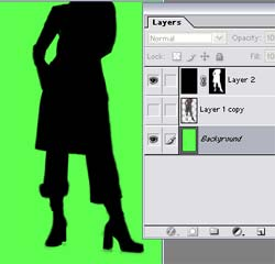 Making silhouettes in Photoshop 7