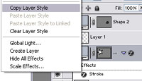 Copying Layer Styles in Photoshop 2