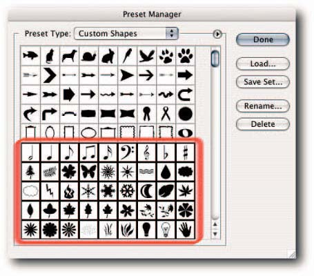 Figure 1 2 you can select multiple items in the preset manager by