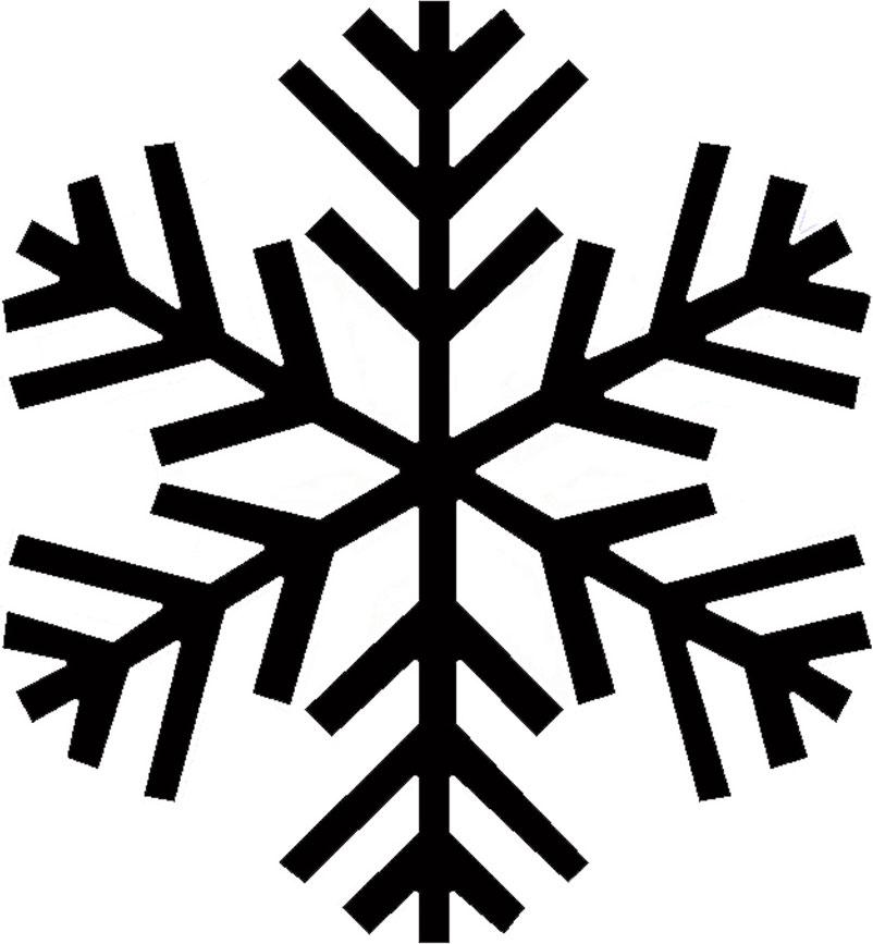 Plain White Snowflake Clipart | New Calendar Template Site