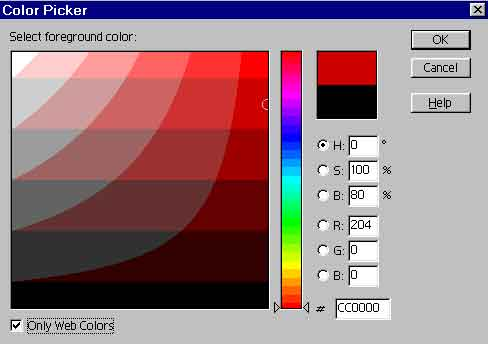 web safe color picker