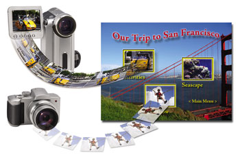 Share photo slides shows on DVD