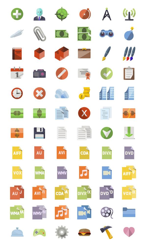 3600+ Free Flat Icons Miniset