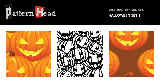 Free Vector Pumpkin Patterns – Halloween Jack O Lanterns