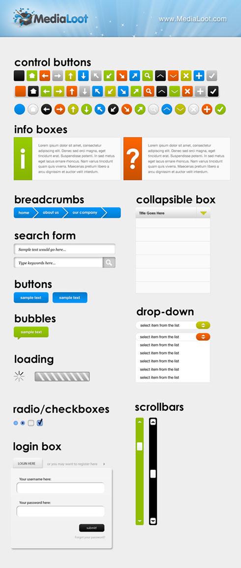 Massive Web UI & Button Set