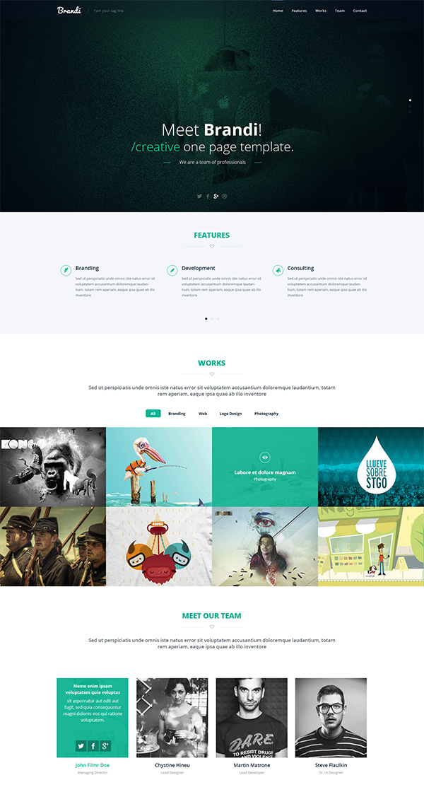 Brandi - Creative Multipurpose PSD template