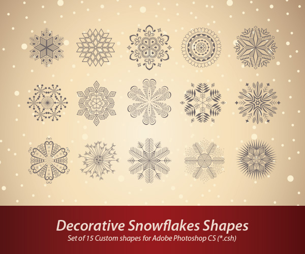 Decorative Snowflakes Shapes (CSH)