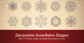Freebie Release: Decorative Snowflakes Shapes (CSH)