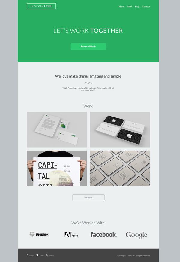 Design & Code - free PSD theme