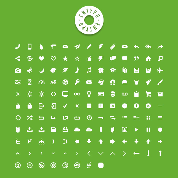 Entypo free set of 250+ carefully crafted pictograms