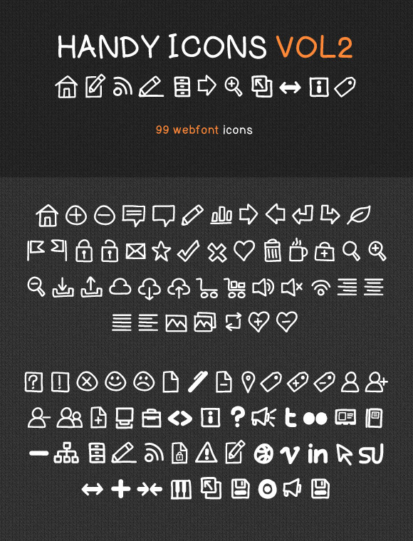 Handy Icons Vol2 – Free Web Font Kit