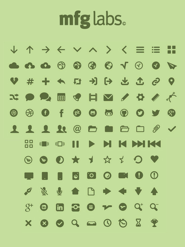MFG Labs Icon Set Pictograms