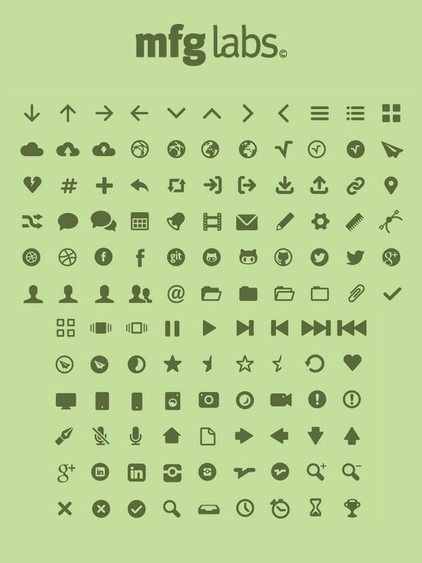 MFG Labs Icon Set Pictograms