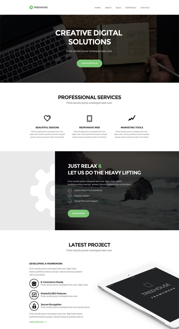 Treehouse - Free PSD Web Template
