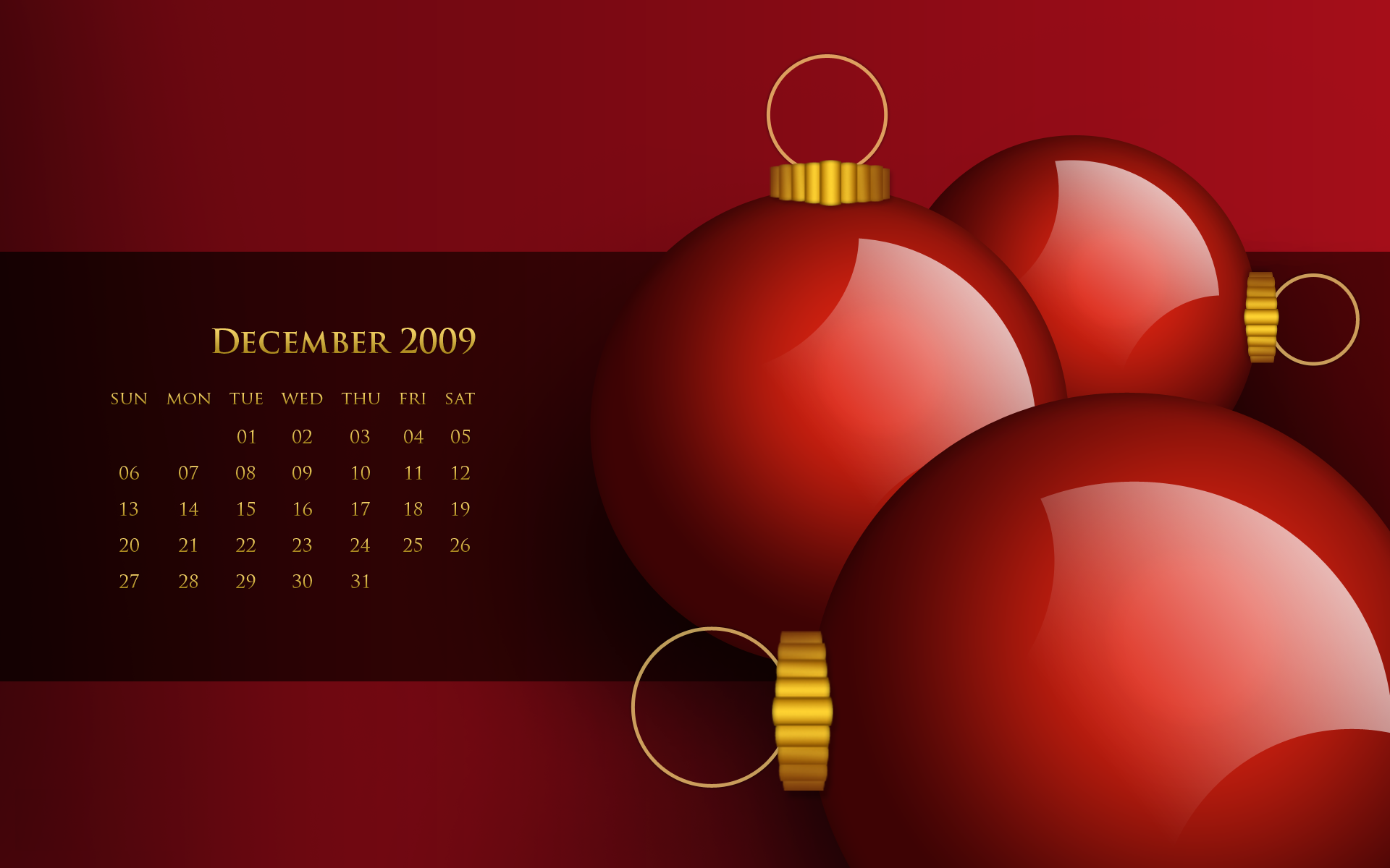 calendar december wallpaper christmas desktop wallpapers 1920x1200