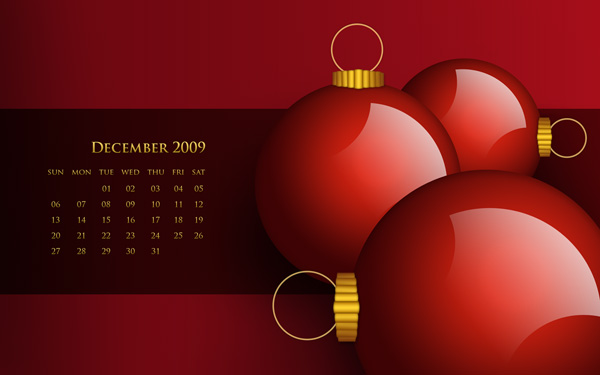 december calendar. Calendar December 2009