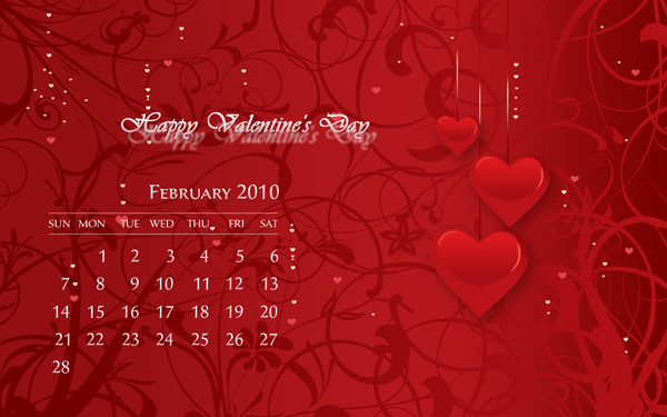 Desktop Wallpaper Calendar February 2010