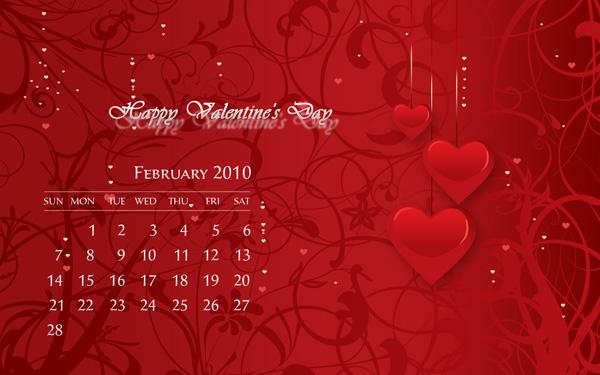 Desktop Wallpaper Calendar February 2010