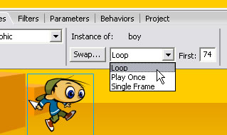 Changing the behavior of the instance to Loop