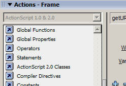 Don't want to worry about ActionScript syntax? Use Script Assist mode in the Actions panel.