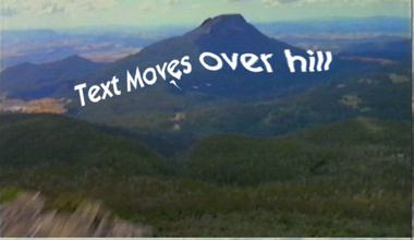 Mountain and text