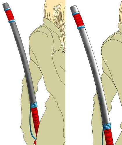 Anime Girl With Sword Picture in adobe Photoshop cs