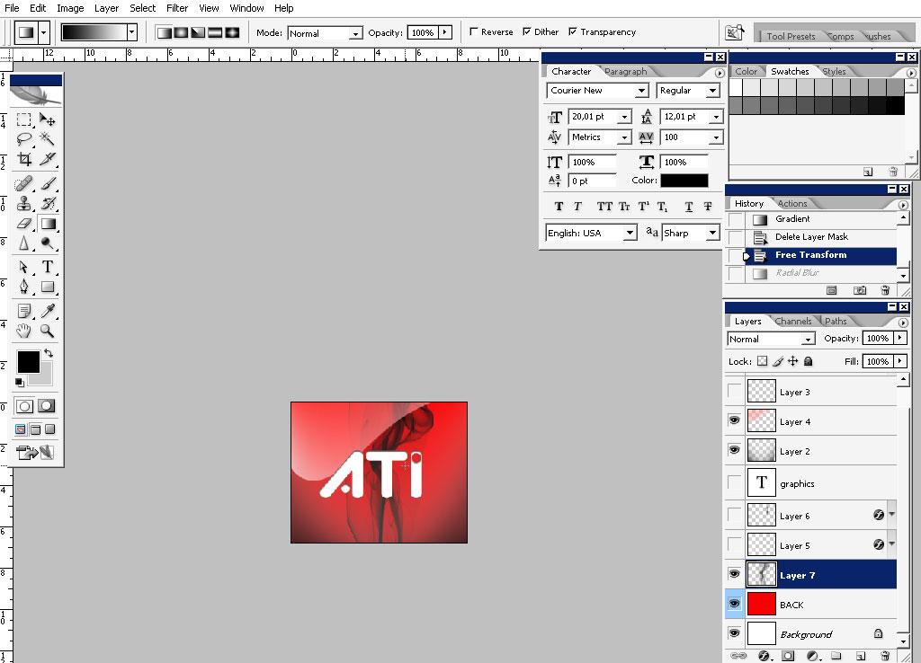 Making the ATI LOGO photoshop tutorial