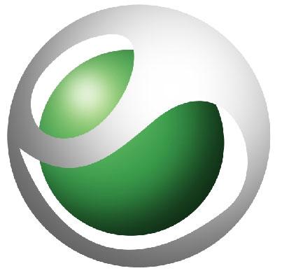 Green and white circle logo sony ericsson logo photoshop tutorials