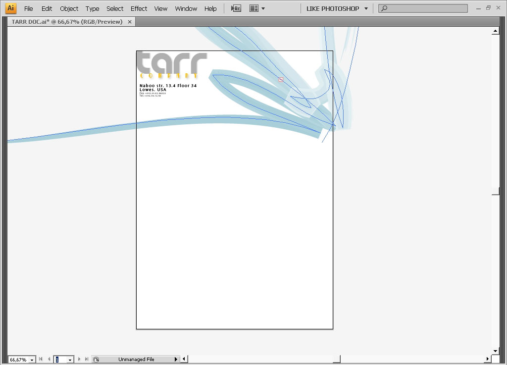 Making a corporate style design