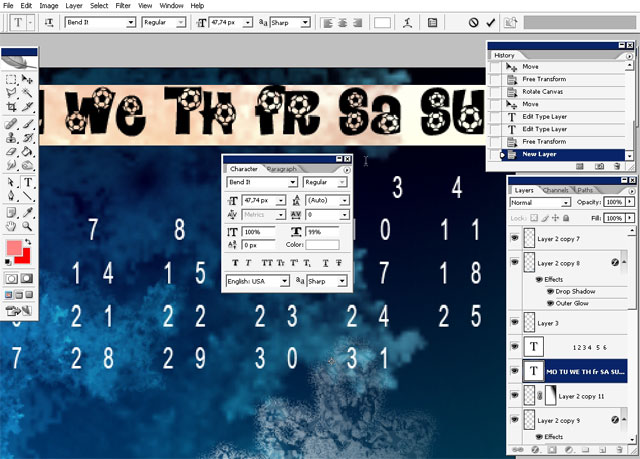 January Calendar 2009 : January calendar wallpaper photoshop tutorials