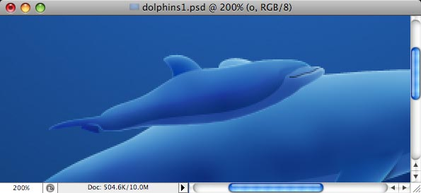 Dolphins - making of - Step 25