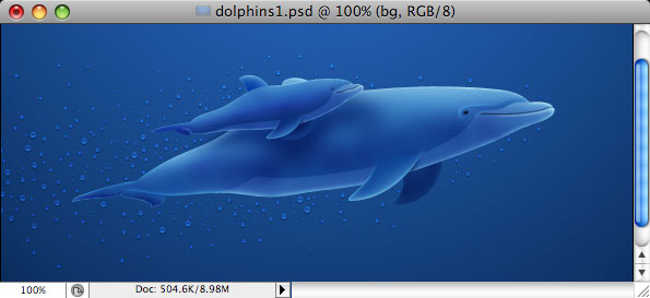 Dolphins - making of - Step 31
