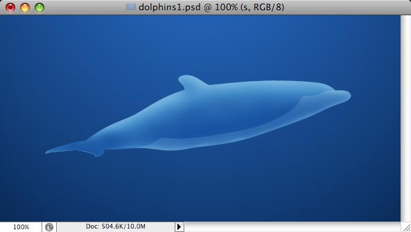 Dolphins - making of - Step 8