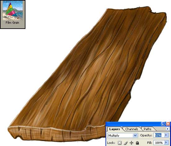 drawing Wooden Plank in adobe photoshop cs