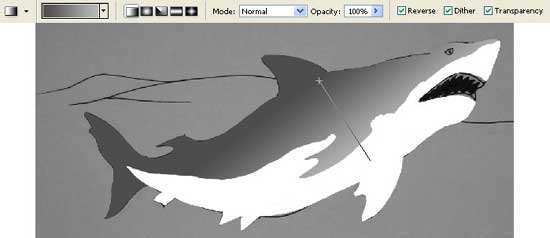 drawing game shark attack picture in adobe photoshop cs