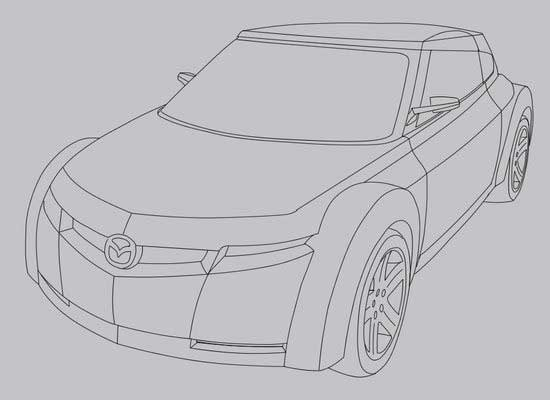 Mazda rendering in adobe Photoshop cs2