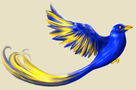 drawing phoenix bird in adobe Photoshop cs2