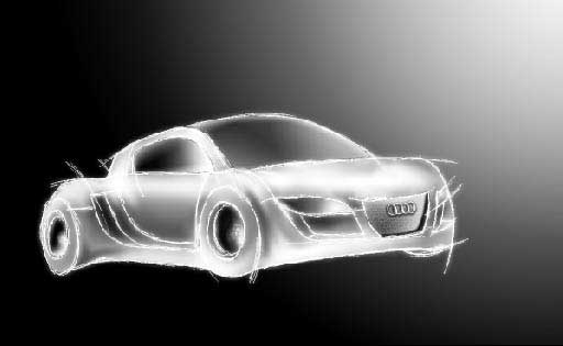 Audi sketch in adobe Photoshop cs2
