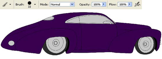 drawing retro car in adobe Photoshop cs