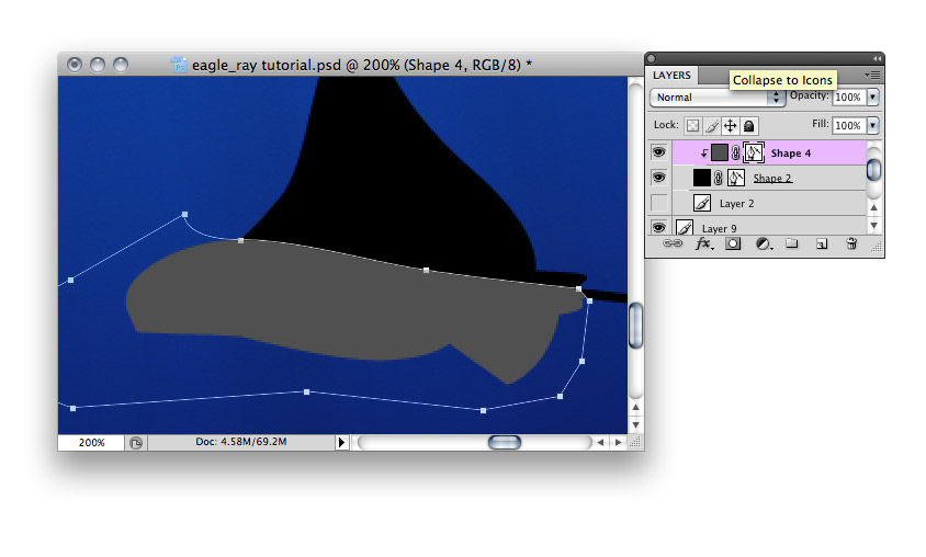 Spotted Eagle Ray - making of - Step 25