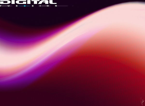 wave digital fusssion wallpaper