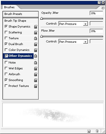 brush usage and color gamma