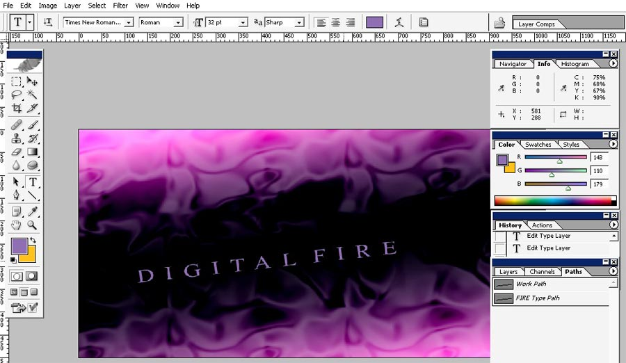 Digital fire illustration