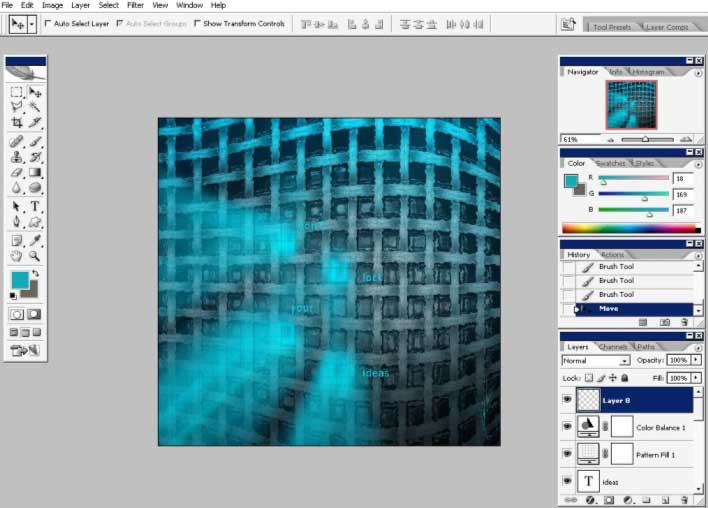 Lighting effects in Photoshop CS2