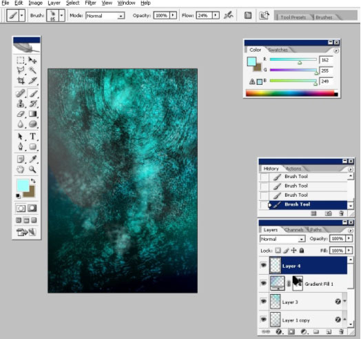 Create a sea illustration