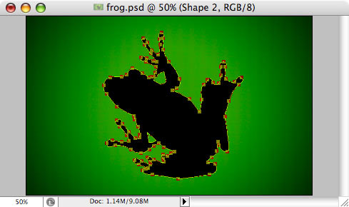Frog - making of - Step 9