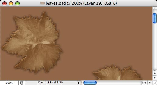 Autumn leaves - making of - Step 13