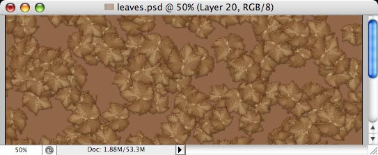 Autumn leaves - making of - Step 15
