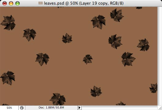 Autumn leaves - making of - Step 9