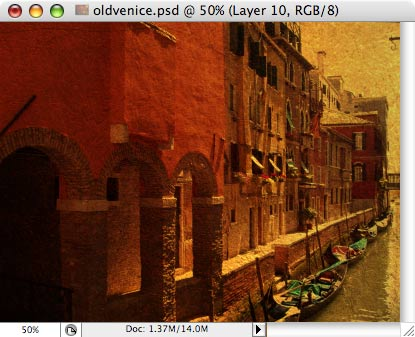Old Venice - making of - Step 9